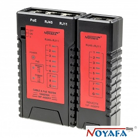 NOYAFA NF-468PF, Cable tester RJ-45, RJ-11 with PoE indication