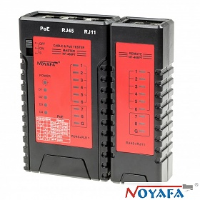 NOYAFA NF-468PT, Cable tester RJ-45, RJ-11 with PoE 802.3af, 802.3at indication