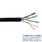Cable U/UTP MADEX, cat.5E, black, outdoor, 4x2 , 305 m, solid