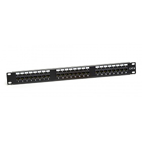 "Patch panel, 24-port, UTP, cat. 6, 1U, 19"", IDC 110, with LED"