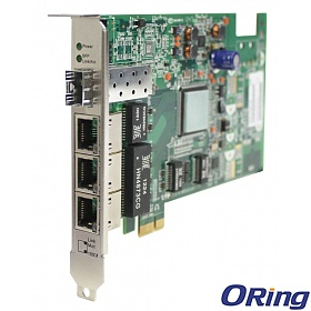 ORing IGCS-E131GP, Industrial Unmanaged switch, PCIe slot, 3x 10/100/1000 RJ-45, Gigabit Ethernet, 1x 100/1000Base-X SFP