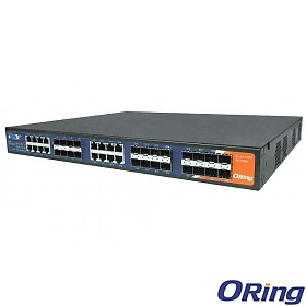 ORing RGS-9168GCP-E-EU, Industrial Managed switch, 16x 10/100/1000 COMBO Ports with SFP + 8 slide-in SFP slots, O/Open-Ring <30ms