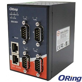 ORing IDS-342, Industrial Device Server, 4x RS-232/422/485 + 2x 10/100 RJ-45 (LAN)