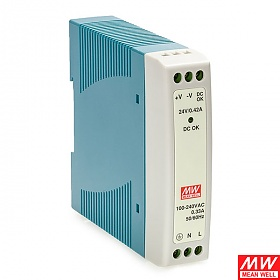 Power supply 10W 24VDC, mini, DIN TS35 (Mean Well MDR-10-24)