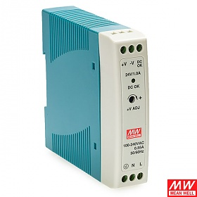 MDR-20-24, Power supply 24W 24VDC, mini, DIN TS35 (Mean Well MDR-20-24)