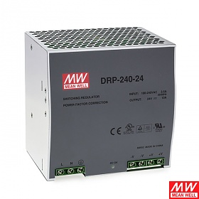 Mean Well DRP-240-24, Power supply 240W 24VDC, DIN TS35, P.F.C.