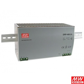 Power supply 480W 24VDC, DIN TS35, P.F.C. (Mean Well DRP-480-24)
