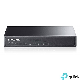 TP-Link TL-SF1008P, Unmanaged switch, PoE,  8x 10/100 RJ-45, desktop