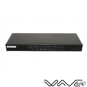 KVM switch, Wave KVM , 16 to 1, PS/2 or USB console, PS/2 and USB PC ports, 19""