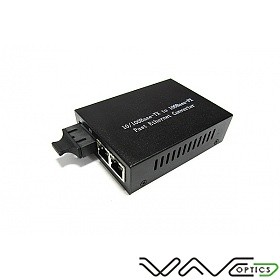Media converter 2x10/100M RJ-45/SC, MM 1310nm, 2km