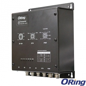 TDS-5041-I-M12, EN50155 Industrial 4-port secure Isolate RS-422/485 to 1x10/100Base-T(X) Device Server, 4x RS-422/485 (2kV isolated) + 1x 10/100 M12 (LAN)