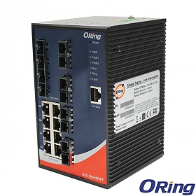 IGS-9844GPF-SS-SC, Industrial Managed Switch, DIN, 8x 10/1000 RJ-45 + 4x 100/1000 SFP + 8x1000 SS SC, O/Open-Ring <30ms