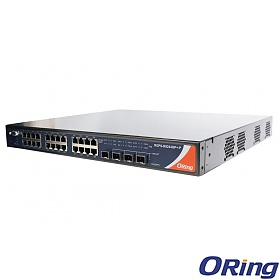 RGS-R9244GP+, Industrial Managed Switch, L3, 24x 10/1000 RJ-45 + 4 1G/10G SFP+ slots, O/Open-Ring <30ms