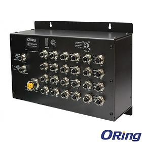 ORing TPS-9168GT-M12, Managed industrial switch, 16x 10/100 M12 PoE + 8x 10/100/1000 M12