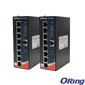 IGPS-9080-24V, Industrial 8-port unmanaged Gigabit Ethernet switch, DIN, 8x 10/1000 RJ-45 PoE
