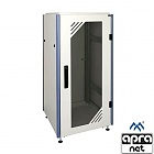 "Floor standing cabinet, 24U 19"", OptiRACK PLUS Light, glass door, 1200x600x1000mm"