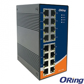 IES-1160, Industrial 16-port unmanaged Ethernet switch, DIN, 16x 10/100 RJ-45