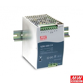 Power supply 480W 24VDC, DIN TS35, P.F.C. (Mean Well SDR-480-24)