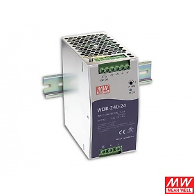 Power supply 240W 24VDC, P.F.C., DIN TS35 (Mean Well WDR-240-24)