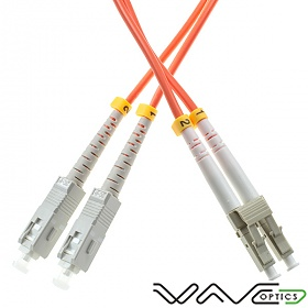 Fiber optic patch cord, SC/UPC-LC/UPC, MM, 62.5/125 duplex, OM1 fiber 3.0mm, 15m