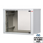 "9U rack cabinet, 19"", wall-mounted, EcoVARI, glass door, 460x600x600mm"