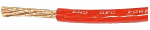 HC OFC power cable,  8AWG, red, O.D.: 6.5 mm