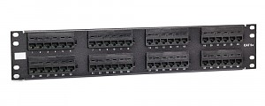 "48 port patch panel, UTP, cat. 5e, 2U, 19"", IDC 110"