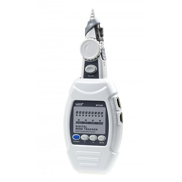 Digital cable tracker and cable tester WT25D