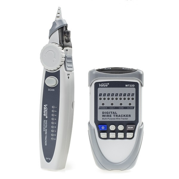 Digital cable tracker and cable tester WT22D