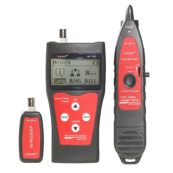 Noyafa NF-300 Cable tester RJ-45, w/LCD and scan detector