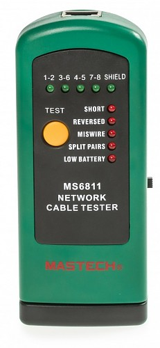 Mastech MS6811 Cable tester RJ-45, BNC with external terminator