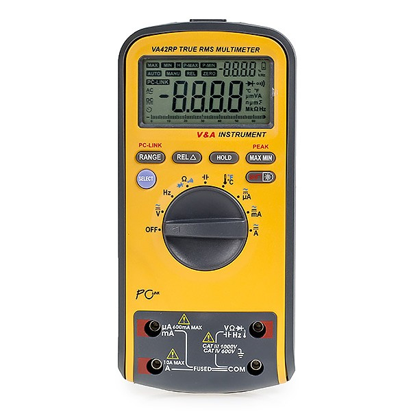 V&A  VA40R - Digital multimeter, TRUE RMS, USB connection, double display