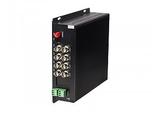 Fiber Optic Video Transmitter, 8 video channels + 1 return data, single mode (WO-8V1DM)