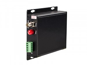 Fiber Optic Video Transmitter, 1 video channel + 1 return data, single mode fiber (WO-1V1DS)
