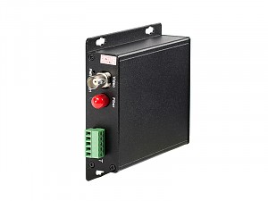 Fiber Optic Video Transmitter, 1 video channel + 1 return data, multi mode fiber (WO-1V1DM)