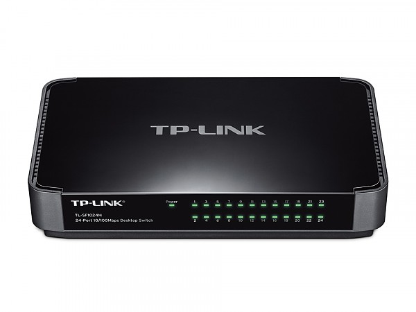 Unmanaged switch, 24x 10/100 RJ-45, desktop (TP-Link TL-SF1024M)