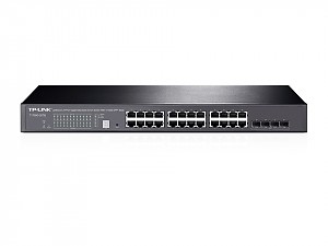 "Managed switch, 24x 10/100/1000 RJ-45, 4 slide-in SFP slot/SFP+ 10G, IP Stackable, L2+, 19"" (TP-Link T1700G-28TQ)"