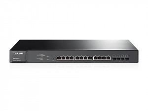 "Managed switch, 12x 100/1000/10G RJ-45, 4x slide-in SFP+ 10G, 19"" (TP-Link T1700X-16TS)"