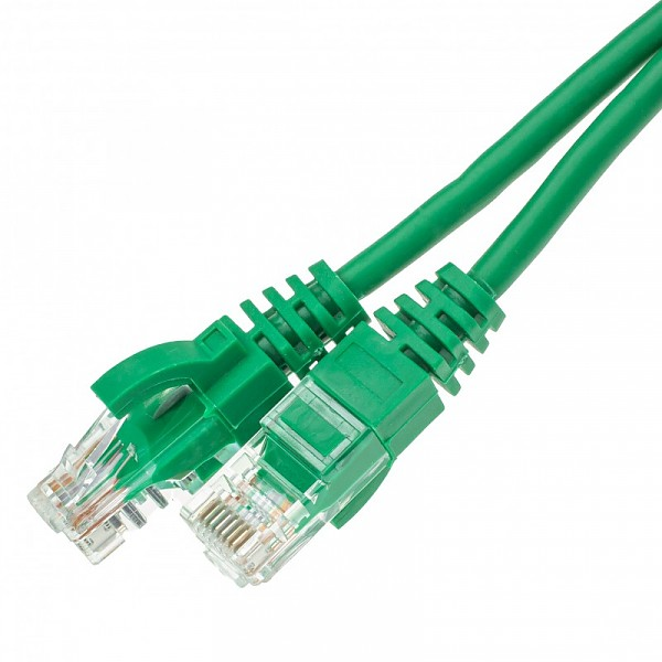 Patch cable UTP cat. 5e, 10.0 m, green
