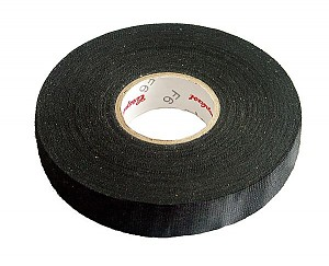 Flame-retardant woven polyester adhesive tapes