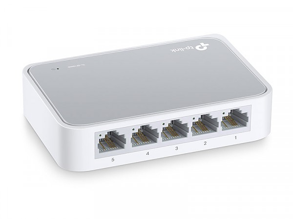 Unmanaged switch,   5x 10/100 RJ-45, desktop (TP-Link TL-SF1005D)