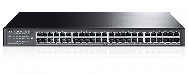 "Unmanaged switch, 48x 10/100 RJ-45, 19"" (TP-Link TL-SF1048)"