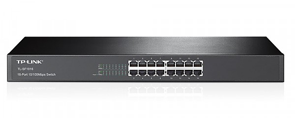 TP-Link TL-SF1016, Unmanaged switch, 16x 10/100 RJ-45, 19""