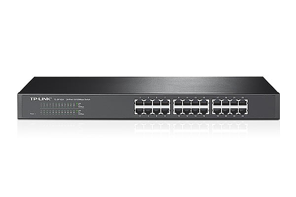 "Unmanaged switch, 24x 10/100 RJ-45, 19"" (TP-Link TL-SF1024)"