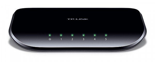 Unmanaged switch,  5x 10/100/1000 RJ-45, desktop (TP-Link TL-SG1005D)
