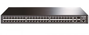 TP-Link TL-SL3452, Managed switch, 48x 10/100 RJ-45, 2x 10/1000 RJ-45, 2 slide-in SFP slots, 19""