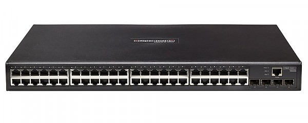 Edge-corE ES4548D, Managed switch L2, 44x 10/1000 RJ-45, 4 slide-in SFP / RJ-45 slots, IP stacking, IPv6, 19""