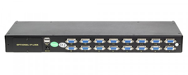 KVM module, Wave KVM, 16 to 1, PS/2 or USB console, rack 19""