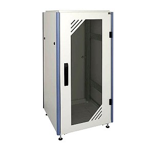 "Floor cabinet 24U 19"", OptiRACK PLUS, glass door, 1200x800x1000 mm (height,width,depth)"