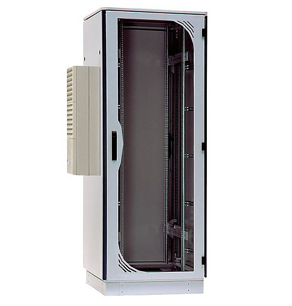 "Cabinet, 19"", 42U, 'TiRAX cool-box', 2000x800x800 mm (height,width,depth), IP 54, w/air conditioning"